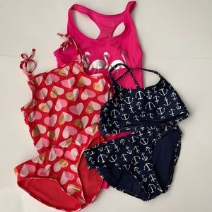GAP Girl 3 swimsuits - size M 8-9 yrs old
